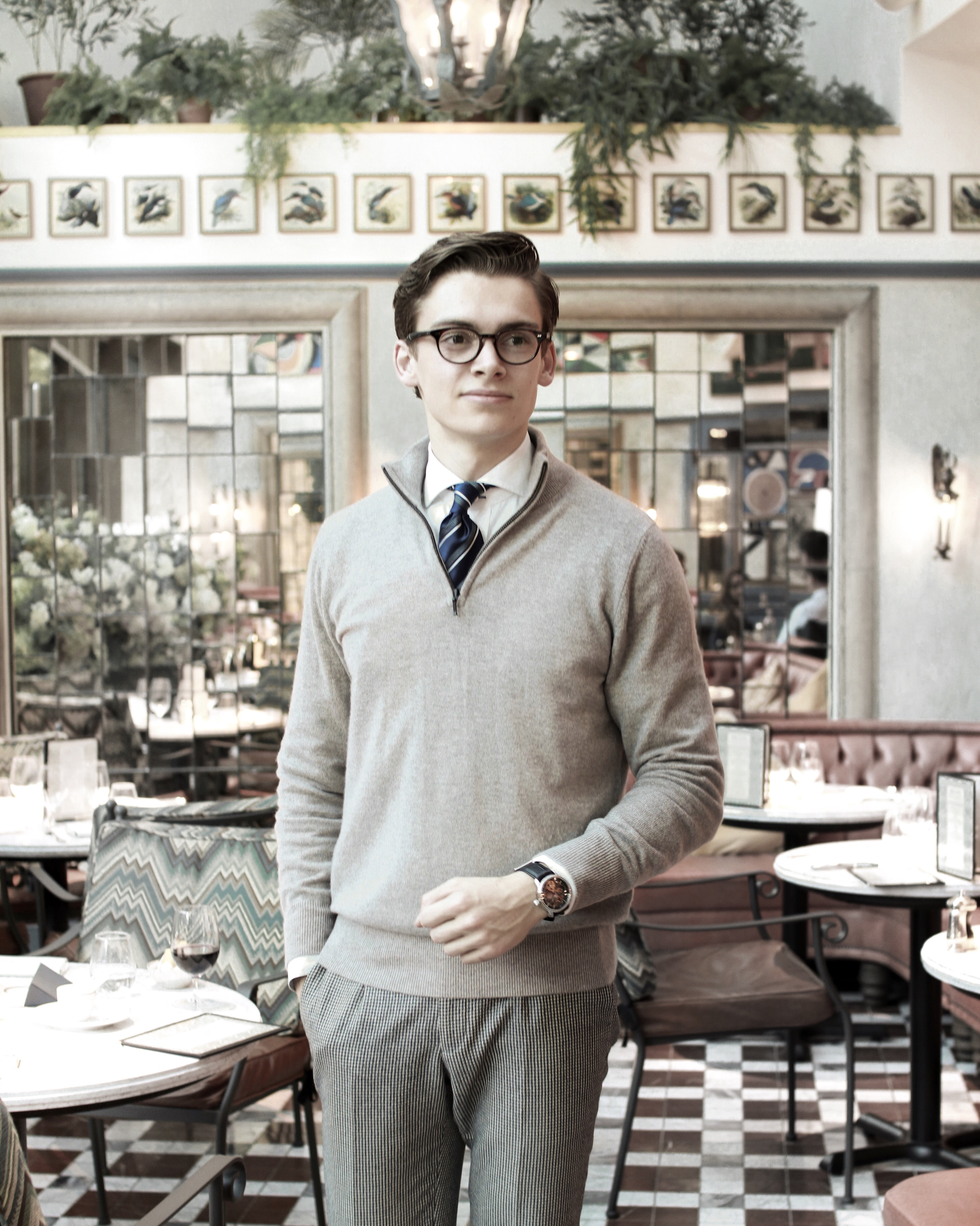 the ivy tower bridge london restaurant luxury gentleman blogger tie smart casual