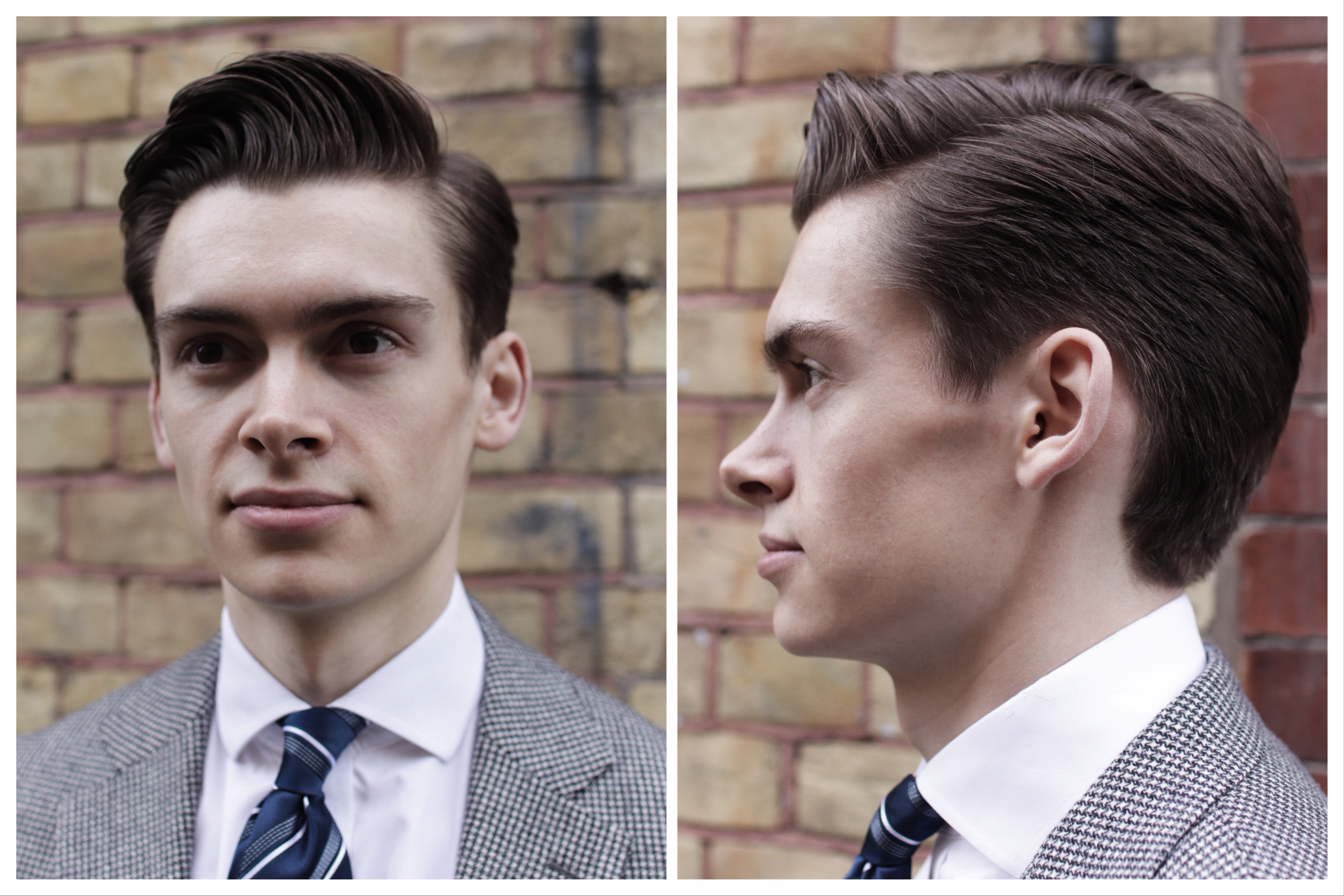gentleman side parting haircut classic ruffians barber london mathias le fevre tie fashion style dapper