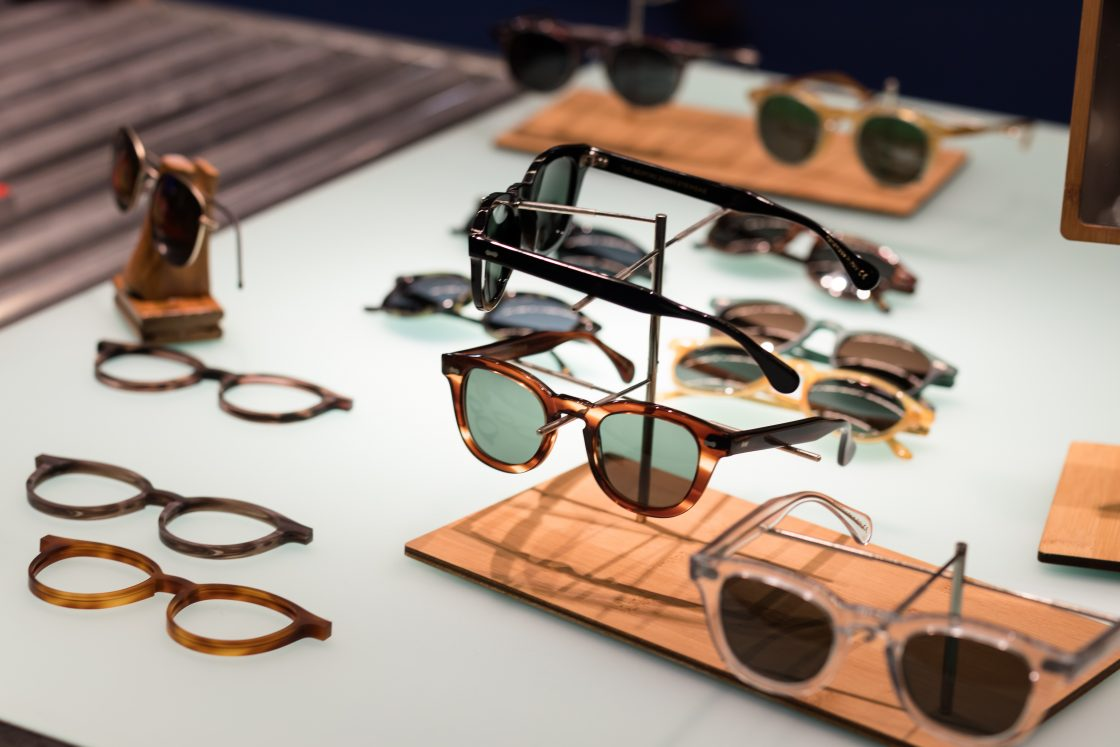 The bespoke dudes eyewear sunglasses mathias le Fevre writer donegal tortoise clear bottle green